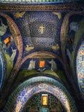 Plafond van Galla Placidia-mausoleum in Ravenna Royalty-vrije Stock Afbeeldingen