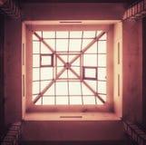 Plafond van het glas het vierkante dak stock afbeelding