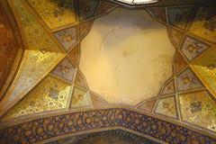 Plafond van het paleis Chehel Sotoun stock afbeeldingen