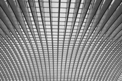 Plafond van het station van Luik in Luik België, bl stock afbeelding