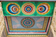 Plafond van ingang van Shirangam-Tempel Stock Foto