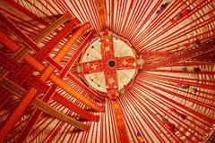 Plafond van Kazachstan Yurt stock afbeelding