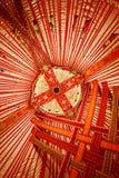 Plafond van Kazachstan Yurt stock foto's
