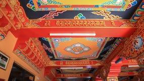 Plafond van Namo Buddha Monastery stock afbeeldingen