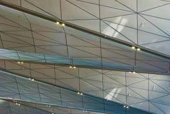 Plafond van Pulkovo-luchthaventerminal Stock Afbeelding