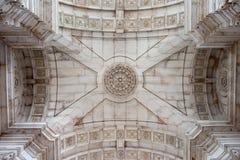 Plafond van Rua Augusta Arch in Lissabon royalty-vrije stock foto