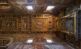 Plafond van San Giovanni in Laterano-Basiliek Stock Fotografie