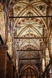 Plafond van Sant ` Anastasia Church in de stad van Verona Royalty-vrije Stock Foto