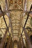 Plafond van Sant ` Anastasia Church in Verona, Italië Sant ` Anastasia is een kerk van de Dominicaanse Orde in Verona, Royalty-vrije Stock Afbeelding