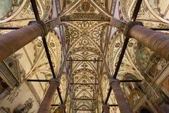 Plafond van Sant ` Anastasia Church in Verona, Italië Sant ` Anastasia is een kerk van de Dominicaanse Orde in Verona, Stock Foto