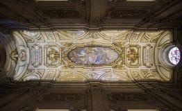 Plafond van Santa Croce in Gerusalemme-Basiliek Stock Fotografie