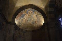 Plafond voûté d'absides dans le hall du chapitre Photo stock