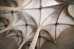 Plafond voûté gothique de Llotja de La Photos stock