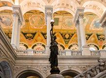 Plafond Washington de bibliothèque du congrès photos stock