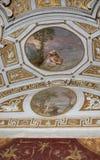 Plafond in zaal. De musea van Vatikaan Stock Afbeeldingen