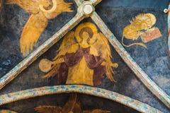Plafondfresko's van Kapel van de Heilige Drievuldigheid in Lublin, Polen stock afbeeldingen