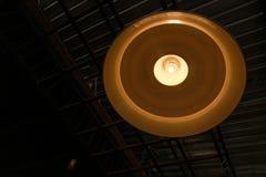 Plafondlamp met zwarte Royalty-vrije Stock Foto's