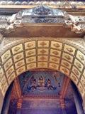 Plafondmuurschildering van Patuxai-boogmonument in Vientiane Royalty-vrije Stock Foto's