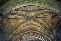 Plafonds en bogen - de beroemde abdijruïnes van het klooster bij Melrose royalty-vrije stock fotografie
