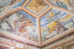 Plafondschilderijen van de kapel van het Ziekenhuis DE Santiago, Ube Royalty-vrije Stock Afbeeldingen