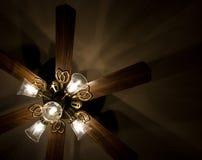 Plafondventilator met Lichten stock foto