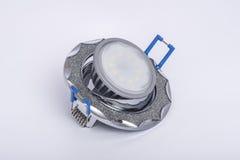 Plafoniera messa e lampada del LED a lui Immagine Stock Libera da Diritti