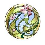 Plafonnier de verre coloré Photos stock