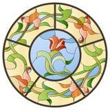 Plafonnier de verre coloré Image libre de droits
