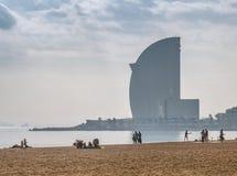Plage à Barcelone Photo libre de droits