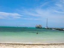 Plage à Belize Photographie stock