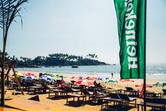 Plage à la plage de Palolem, Goa Image stock