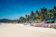 Plage à la plage de Palolem, Goa Image libre de droits