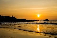 Plage à la plage de Palolem, Goa Images stock