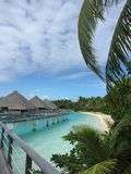 Plage à la station de vacances de Bora Bora Photographie stock