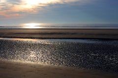 Plage à marée basse Image libre de droits