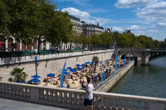 Plage à Paris Image libre de droits
