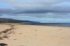 Plage écossaise abandonnée Photo libre de droits