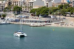 Plage Îles Baléares de Porto Cristo Majorque Photo stock