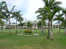 Plage Îles Maurice de sucre d'hôtel Image libre de droits
