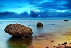 Plage 02 d'Anyer Image stock