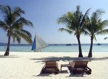 Plage 8 de Boracay Photos libres de droits