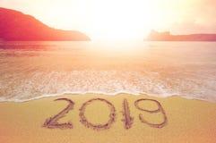 plage 2019 Photographie stock libre de droits