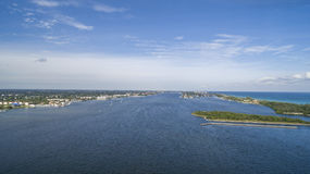 Plage aérienne de Boynton, la Floride Image libre de droits