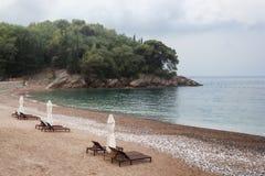 Plage abandonnée sur la Mer Adriatique Images libres de droits