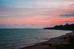 Plage, Abkhazie Photos libres de droits