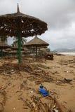 Plage après tempête Photographie stock