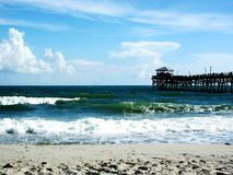 Plage atlantique, la Caroline du Nord image stock