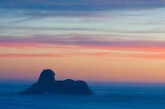 Plage au coucher du soleil photos libres de droits