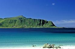 Plage aux îles de Lofot photos stock