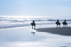 Plage bali Indonésie de kuta d'excursion d'équitation Images stock